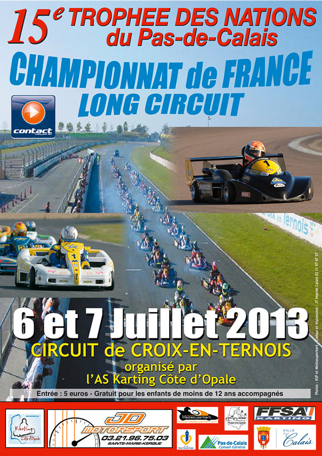 ffsa karting long circuit croix en ternois 6 7 juillet 2013. Black Bedroom Furniture Sets. Home Design Ideas